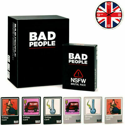 BIG SALE! Bad People Card Game Basic+NSFW Brutal Pack Party Family Games Uk • 16.79£