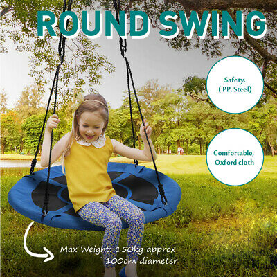 Children Nest Swing Padded Seat Set 100cm Giant Nest Web Rope Hanging Tree Swing • 28.99£