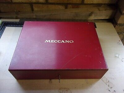 Meccano Vintage Red Wooden Box Circa 1930's With Key - Very Good Condition • 300£