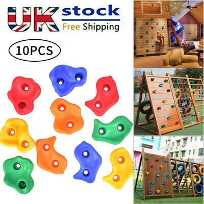 10x  Kids Climbing Stones Rocks Outdoor Climbing Point Wall Hold Grab Grip.UK • 14.15£