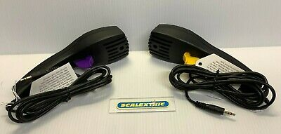 SCALEXTRIC SPORT HAND THROTTLES Purple & Yellow (BRAND NEW) JACKPLUG FITTING • 5.99£