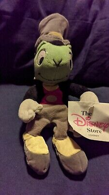 The Disney Store Jiminy Cricket 8  Beanie Toy Plush With Tags  • 15£