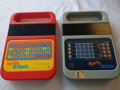 Speak & Spell And Speak & Maths , Texas Instrument Both Fully Working • 50£