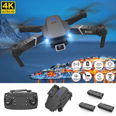 2021 Drone RC Drones Pro 4K HD Camera GPS WIFI FPV Quadcopter Foldable Bag Gifts • 35.89£