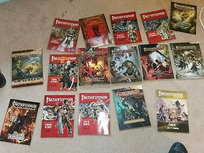 Pathfinder Roleplaying Game (Rpg) Collection ( 15 Books Plus GM Screen)  • 100£