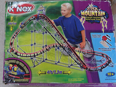 K'NEX Storm Mountain Rollercoaster Construction Toy Instructions Box Complete • 25£