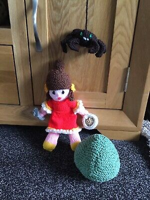 Little Miss Muffet Tuffet And Spider Hand Knitted Toys  • 9.99£