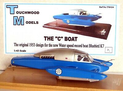 Water Speed Record: 1953 Bluebird K7 'C' Boat Conceptual Design By Touchwood • 185£