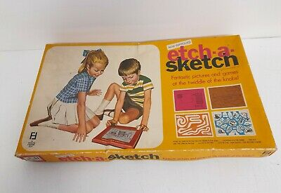 Vintage Etch A Sketch Denys Fisher 1970 Boxed With Instructions & Grids #H1 • 19.99£