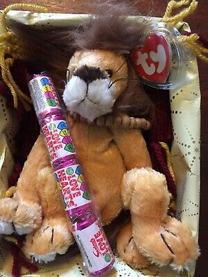 """Ty Attic Collection Reitired Lion """"king Of Hearts"""" Gifted:- • 7.99£"""
