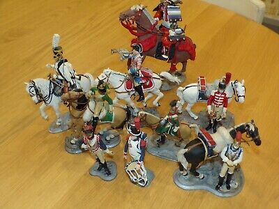 Poste Militaire Lot Of White Metal Models Soldiers Mounted Horses Samurai • 19£