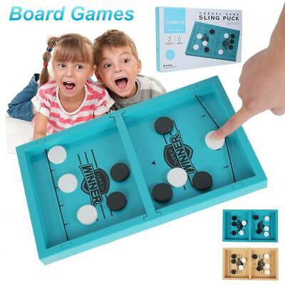 Fast Sling Puck Game Paced SlingPuck Winner Board Family Game Child Toy NEW • 10.99£