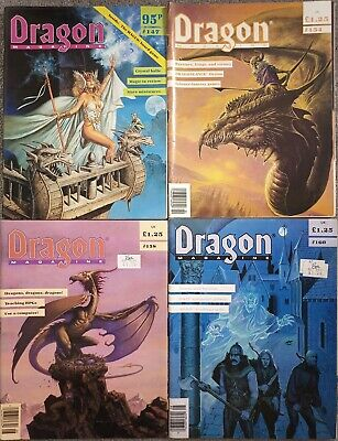 Dragon Magazine - 12 Issue Lot, See Description For Details.  Good Condition • 0.99£