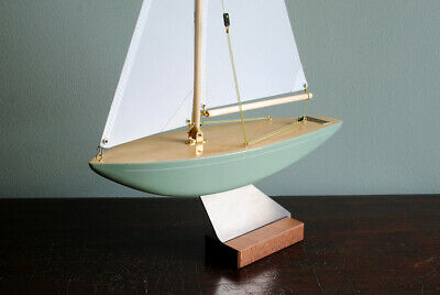 12in DRAGONFLY Vintage Green Traditional English Pond Yacht Model Sailing Boat  • 65£