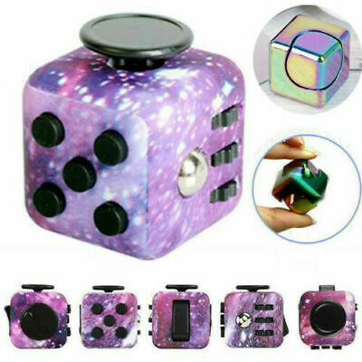Fidget Cube Children Special Adults Stress Anxiety Relief Desk Fiddle AD HD Toy • 3.99£