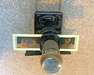 Antique Toy Projector And 16 Colour Slides • 5£
