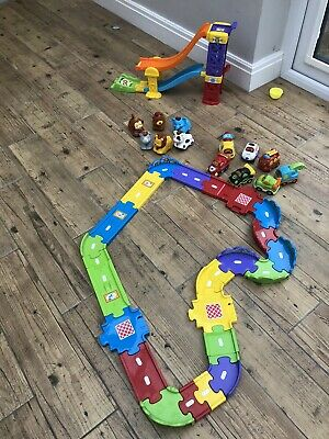 Toot Toot Track, Ramp, Cars And Animals Bundle • 15£