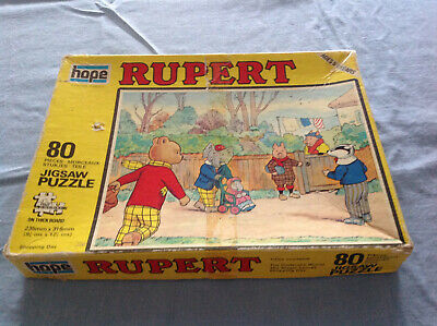Vintage Rupert Bear Jigsaw Puzzle - Shopping Day- Dated 1973 Complete  • 6.99£