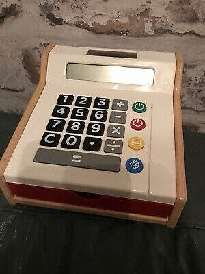 Wooden Children's Till Toy From Ikea Fully Working Calculator Benefits Charity • 7.99£