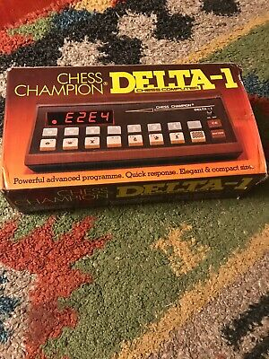 Vintage SciSys-W DELTA-1 Chess Champion Chess Computer Red LED Chess Trainer • 25£