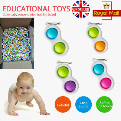 Simple Dimple Brain Teasers Sensory Toy Silicone Flipping Board Kids Adult Gifts • 5.26£