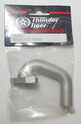 Thunder Tiger Original Spare Part PD1773 Header Side Exhaust In Silver • 19.95£
