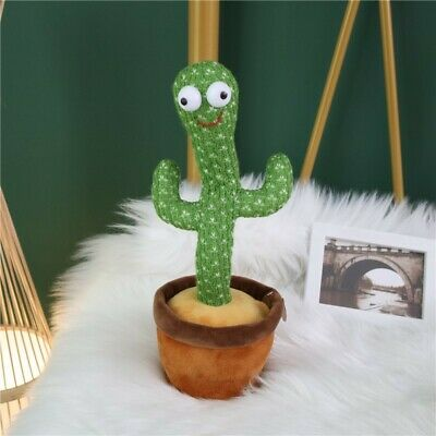 New Dancing Cactus Plush Toy Electronic Shake With Song Cute Dance Funny Gift UK • 16.77£
