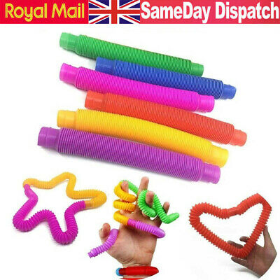 6pc Fidget Pop Tube Toys For Kids Adults Stretch Pipe Sensory Tool Stress Relief • 5.96£