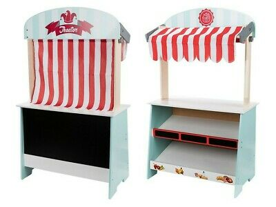 Playtive Junior Wooden Shop And Theatre Stand 2 In 1 Role Play FSC Certified  • 49.99£