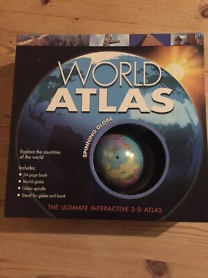 World Atlas With Spining Globe • 6£