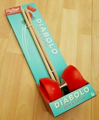 New Boxed Ridley's Spin & Catch Red Diabolo • 3£