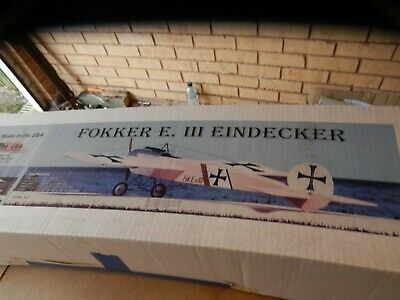 Balsa USA Fokker E III Eindecker RC Model Kit • 102£