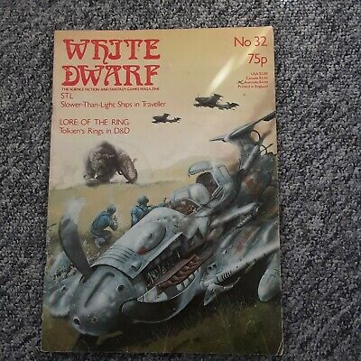 White Dwarf Issue 32 August 1982 Games Workshop Roleplaying Magazine. Used. • 5£