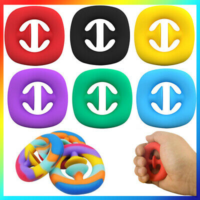 Squeeze Snap Sensory Tool Fidget Toy Autism Hand Strength Grip Play Snappers UK • 3.99£