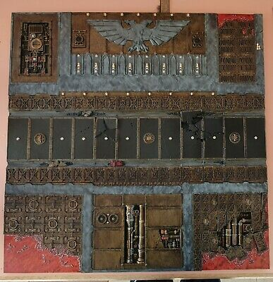 Warhammer 40k Sector Imperialis Display Tile FULLY PAINTED • 40£