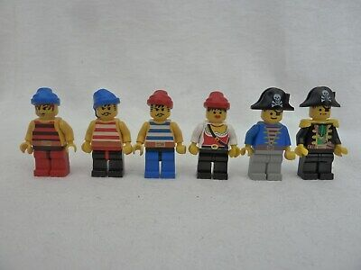 LEGO 6 X CLASSIC PIRATE MINIFIGURES WITH HATS • 10£
