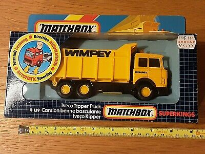 Matchbox K139 Superkings Wimpey Iveco Tipper Truck Lorry Model  Boxed Vintage • 20£