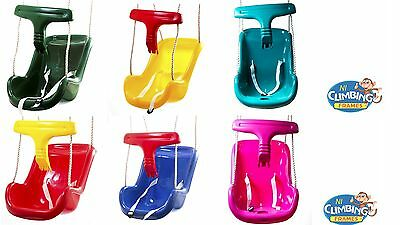 Deluxe Baby Toddler Swing Seat Child Adjustable Height SOLD OVER 7500 High Back • 21.99£