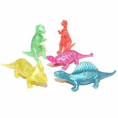 Pack Of 30 Small Stretchy Dinosaurs - Fun Pocket Money Toys • 7.49£
