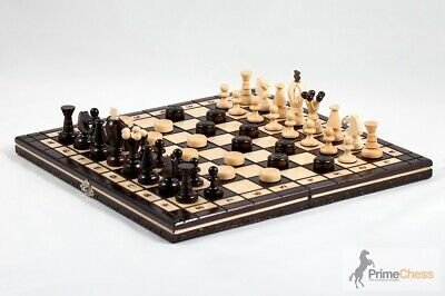Prime Chess Hand Crafted Cherry Wooden Chess Set 35cm X 35cm • 23.99£