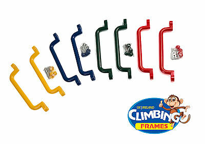 GRAB HANDLES HAND GRIPS (Set Of 2 Extra Long) Climbing Frame Playhouse Treehouse • 8.49£