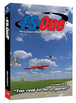 FS One R/C Flight Simulator V2 With Spektrum Dx6i Transmitter Adapter Cable NEW • 99.53£