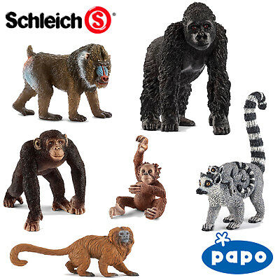 SCHLEICH / PAPO World Of Nature PRIMATES Choose From 15 Different Apes With Tags • 5.99£