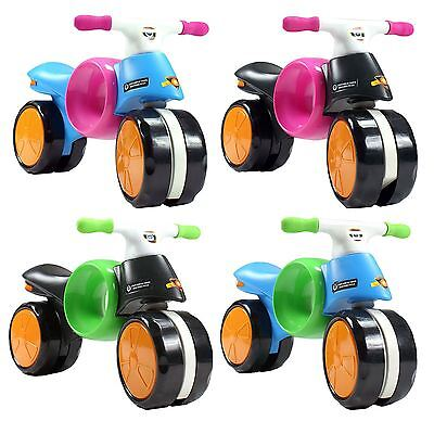 Kids Balance Bike Childrens Motorbike Motorcycle Wide Wheels 4 Colour Designs  • 23.99£