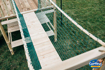 Rope Bridge 6ftx2.5ft: INCLUDES Timbers NEW: Rope Bridge Netting Cargo Net Kids • 109.95£