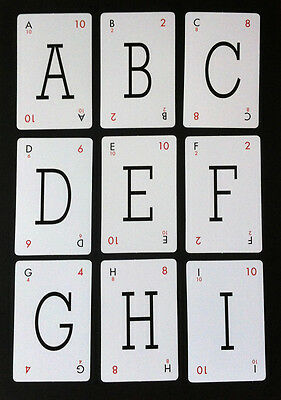 Lexicon Letters - Vintage Style Playing Cards - Choose Your Letters Pick & Mix  • 1£
