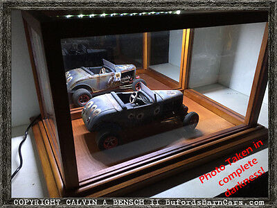 Beautifully Handmade LIGHTED Mirrored Display Case For 1:18+ Scale Models • 69.40£