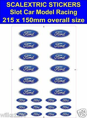 Slot Car / Scalextric Stickers Model Race FORD Logo Decal Self Adhesive Vinyl • 2.80£