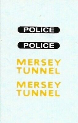Dinky 255 Landrover | Mersey Tunnel Police | Waterslide Transfer/Decal • 1.55£