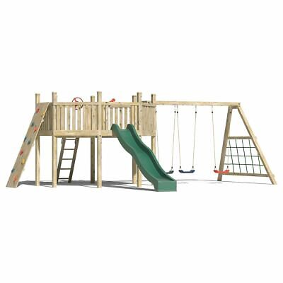 GIANT'S OCTAGON: Bespoke, Climbing Frame, Monkey Bars, Slide, Rock Wall, Outdoor • 1,599.95£